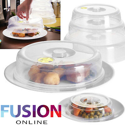 Set Of 5 Ventilated Microwave Food Plate Covers Lids Splatter Guard Plate Cover