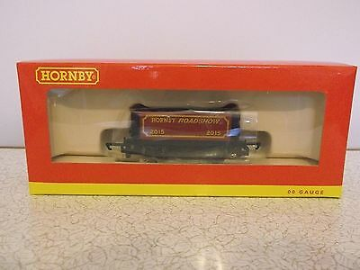 'New' OO Gauge R6719 Hornby Roadshow 2015 7 Plank Wagon (boxed) - new