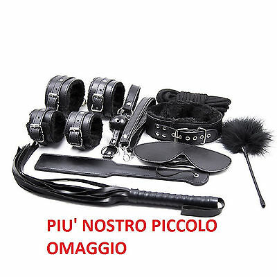 Kit 11 sex toy polsini addio nubilato collare piumino ball corda paddle piumino