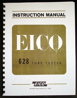 EICO 628 Emission Tube Tester Manual