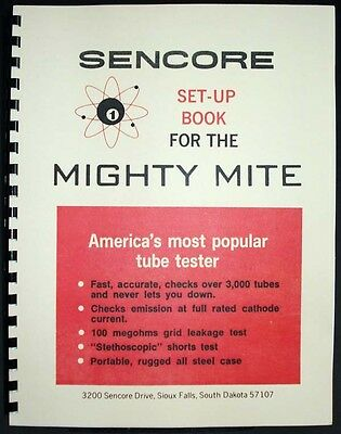 Sencore Set-Up Book Tube Data TC114 TC 130 TC136 TC142 TC154