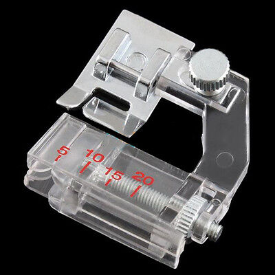 New Home Adjustable Bias Binder Presser Foot Feet for Sewing Machines