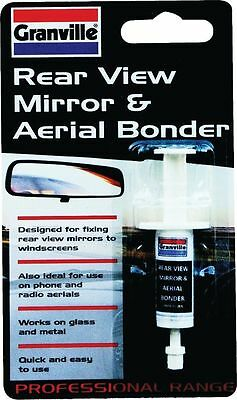 Granville Windscreen Rear View Mirror & Aerial Bond Glass Metal Adhesive Glue