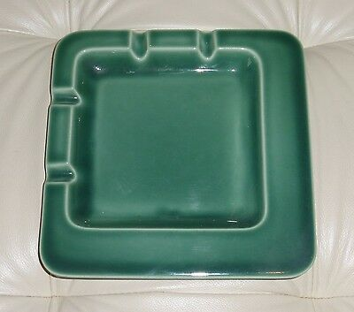 Vintage Rookwood Pottery Cincinnati Large Green Ashtray