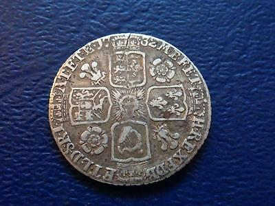 Great Britain - George 11 Silver Sixpence 1732 Roses & Plumes In Angles