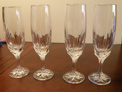 Beautiful Vintage VILLEROY & BOCH crystal IRIS pattern Fluted Champagne Glass