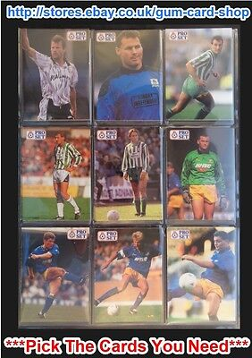 Proset 1991/92 Footballers (Vg) Cards 191 To 230 *Pick The Cards You Need*