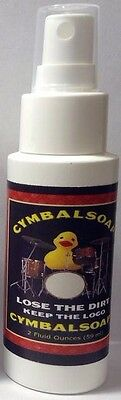 Cymbal Soap Cleaner 2 Oz Spray Bottle Lose The Dirt Keep The Logo Protect Clean