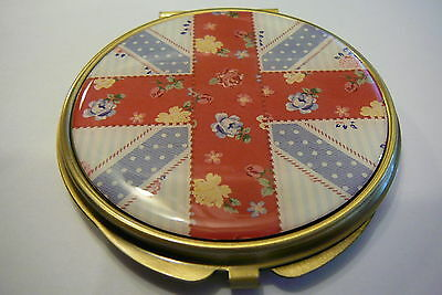 Union Jack (Blighty) Compact Mirror Metal Casing Pocket / Purse Mirror