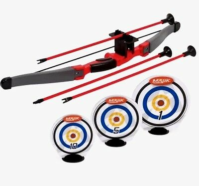 Bow and Arrow Set Shoot-A-Round Archery Challenge with Targets New Majik