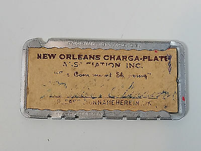 Vintage New Orleans Charga-Plate Charge Credit Card 1940's