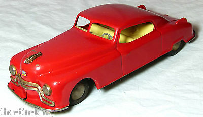Large Tin Plate Friction Toy Candidat Red Car Arnold Us Zone Germany 1940S/50S