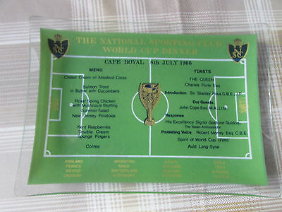 WORLD Cup 1966 FOOTBALL Dinner Cafe Royal National Sporting Club Dinner Ashtray
