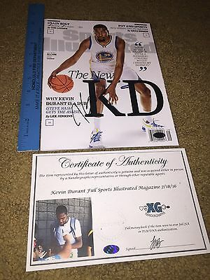 Kevin Durant Signed Autographed Sports Illustrated Full Magazine Warriors-Coa