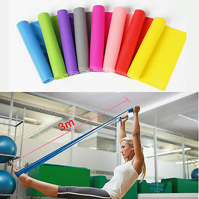 Yoga Pilates Stretch Resistance Exercise Fitness Band Rubber 150cm High Quality