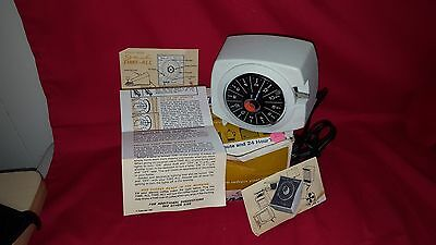 Vintage 1965 Intermatic Time-All Lamp Appliance Timer With Instructions And Box!