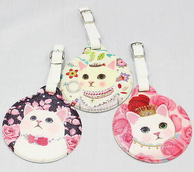 Cat Round Luggage Tag