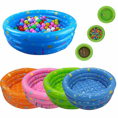 Outdoor 80CM Inflatable 3 Ring Round Swimming Swim Pool Toddler Kids AU Stock