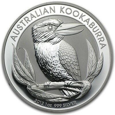 2012 Australia 1 oz Perth .999 Silver Kookaburra (from mint roll)