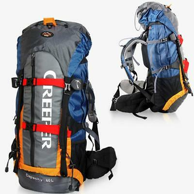 Large Waterproof Backpack Outdoor Sports Camping Climbing Hiking Travel Bag 60L