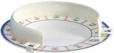 """PLASTIC PLATE GUARD 8.5- 10"""" - Disability Dining Aid to Keep Food On Plate"""