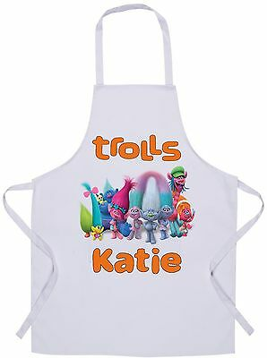 Personalised Kids Trolls Apron - Baking/Cooking - 60x42cm