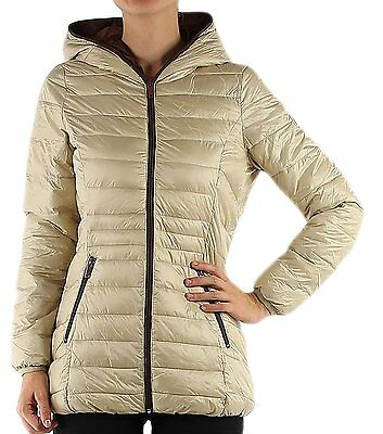 Womens Quilted Padded Puffer Bubble Down Feel Light Weight Ladies Jacket Coat