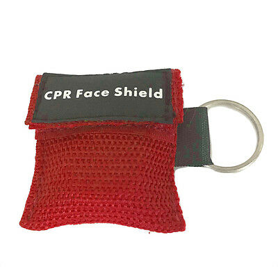 First Aid Mini CPR Keychain Mask / Face Shield Barrier Kit Health Care MR