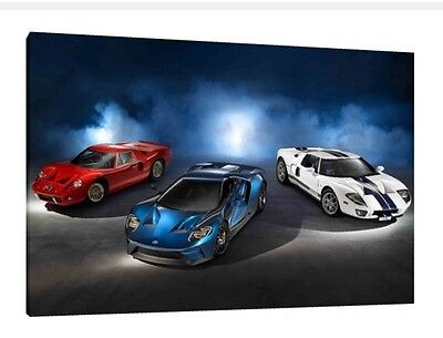 Ford Gt Gt X Inch Canvas Art Framed Picture Poster
