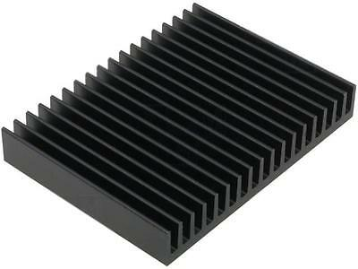 SK81/75/SA Heatsink extruded grilled black L75mm W100mm H15mm FISCHER ELEKTRONIK