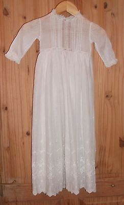Vintage Antique Embroidered & Lace Christening Gown
