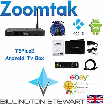 Android Box   Zoomtak T8Plus2   2GB RAM   KODI 16   Android 6   S912   NEW MODEL