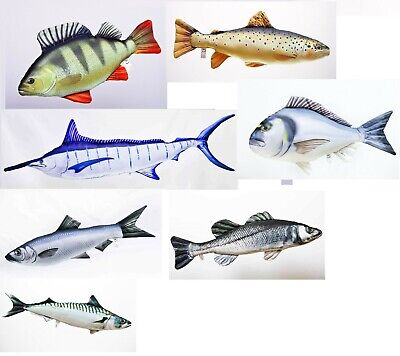 New Assorted Gaby Fish Soft Toy Teddy Cuddly Novelty Bivvy Pillow Fishing Gift
