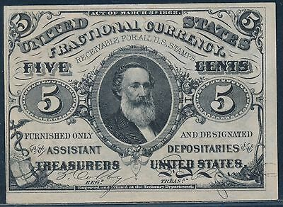 Fr1238 Var. 3Rd Issue Fractional Currency Plate On Back Choice Cu Bt5113