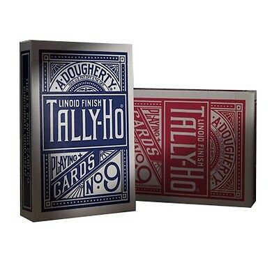 2 DECKS Tally Ho Circle Back playing cards Red & Blue Poker Standard Index NEW