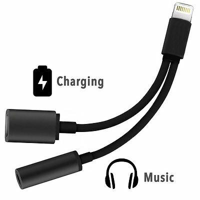 Charger Audio Jack Headphone Adapter Cable For iPhone 7 7 Plus, support iOS 10.3