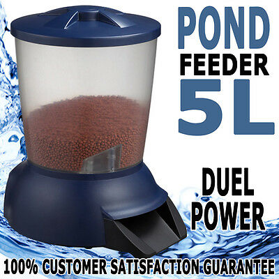 LCD Automatic Fish Food Feeder Digital Timer Aquarium Tank Pond For Koi Pellet
