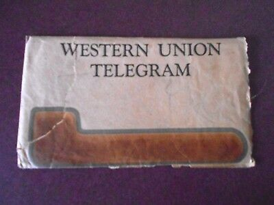 Antique Vintage Western Union Telegram