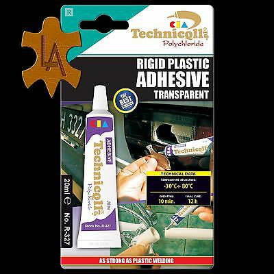 Hard Plastic Strong Adhesive Glue PVC Pipes ABS TR EVA Perspex Acrylic Repair