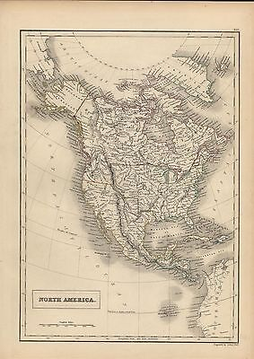 North America note Texas 1844 interesting Western Territory by Hall antique map