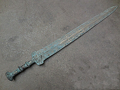 antique Chinese ancient weapon Bronze sword spear(60cm)