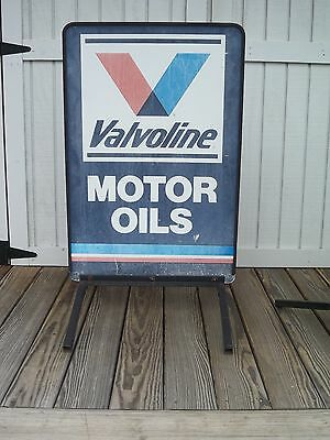 Vintage Valvoline Motor Oil Side Walk Service Station Sign with Stand