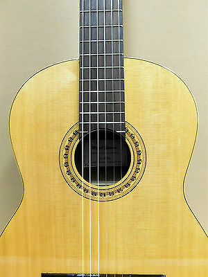 Miguel Rosales Model 10 'Pillars' Solid Top Classical Guitar + Gig Bag + Strings