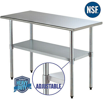 "Commercial 24""x48"" Stainless Steel Prep Table Food for Kitchen Restaurant Silver"