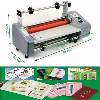 220V 50Hz 500W 13'' Four Rollers Hot and Cold Roll Laminator Laminating Machine