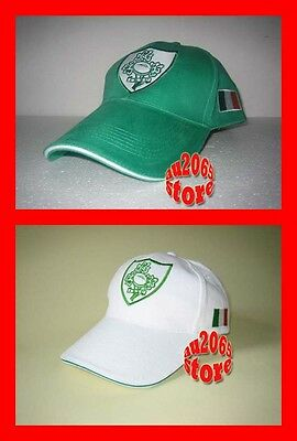 New White + Green Ireland Flag Rugby Adults Baseball Cap Hat x2
