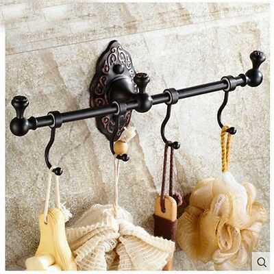 Oil Rubbed Bronze Bathroom Clothes Hook Hangers Towel Coat Hook Wall Mounted