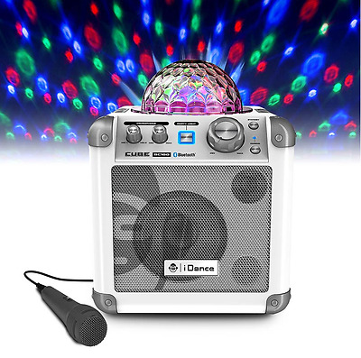 Party Disco iDance Karaoke Bluetooth System with Light Effects 2 Microphones