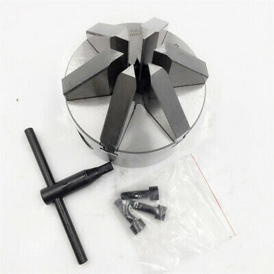 "6 Jaw Lathe Chuck 4"" Self-Centering 100MM Hardened Steel CNC Drilling Milling"