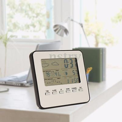 Wireless Indoor/Outdoor Weather Temp Thermometer Station Digital LCD Hygrometer